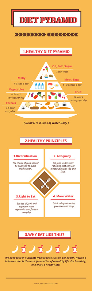 Diet Pyramid Infographic Design