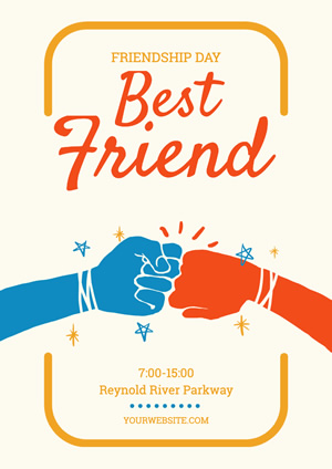 Fist Bump Friendship Day Poster Design