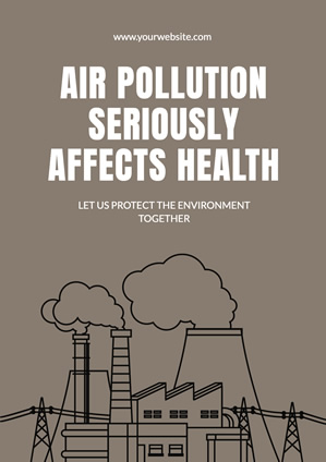 Factory Fumes Air Pollution Poster Poster Design