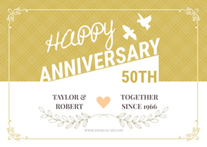 Unique 50th Anniversary Card Design