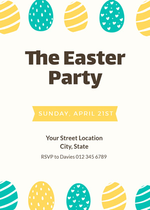 Simple Easter Invitation Design