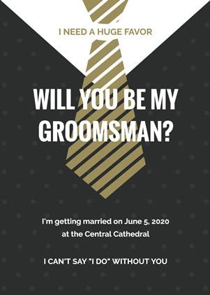 Formal Groomsman Invitation Design