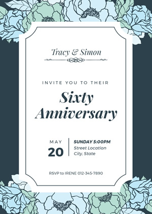 60th Anniversary Invitation Design