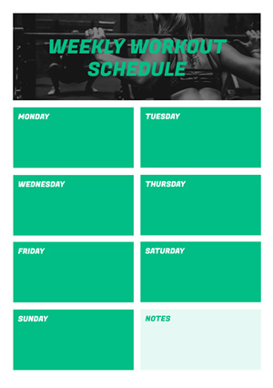 Weekly Workout Schedule Design