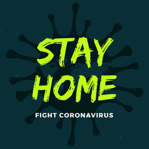 Stay Home and Fight Virus Instagram Post Instagram Post Design