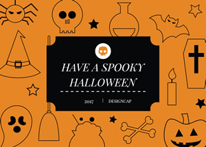 Creative Halloween Card Design