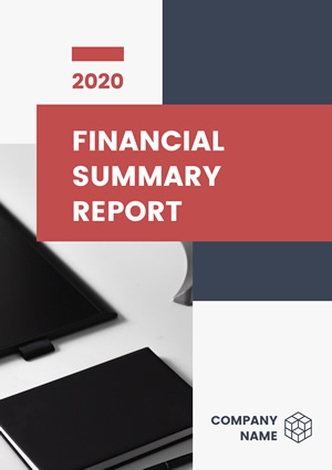 Financial Summary Report Design