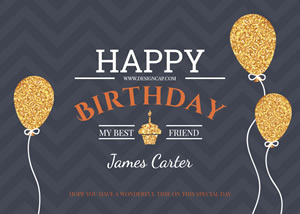 Birthday Congratulation Card Design