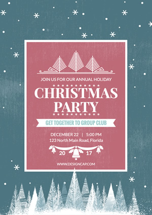 Party Christmas Poster Design