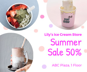Ice Cream Sale Facebook Post Design