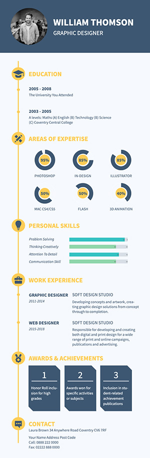 Job Application Resume Infographic Design