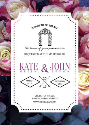Modern Wedding Invitation Design