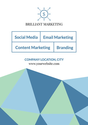 Simple Business Marketing Service Poster design