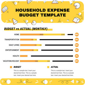 Monthly Expenses Bar Chart Design