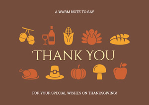 Cute Thanksgiving Day Card Design