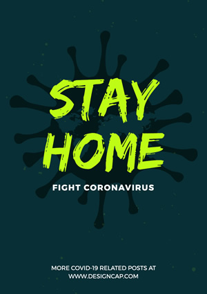 Stay Home and Fight Virus Poster Design