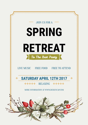 Party Spring Retreat Poster Design