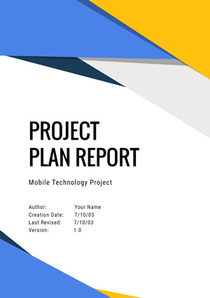 Project Plan Report Design