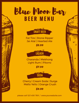 Beer Menu Design