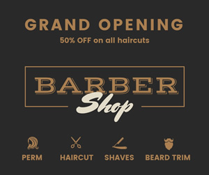 Barbershop Post Facebook Post Design