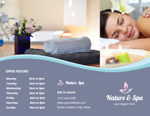 Relaxing Spa Brochure Design