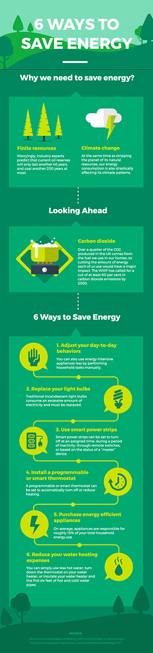 Save Energy Infographic Infographic Design