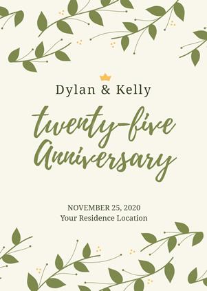 25th Anniversary Invitation Design