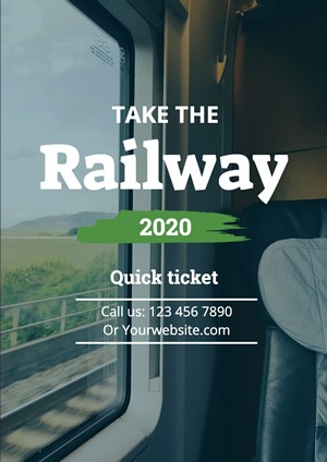 Railway Ticket Booking Information Poster Poster Design