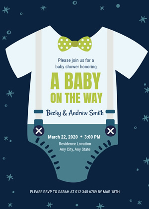 Swaddling Clothes Baby Shower Invitation Design
