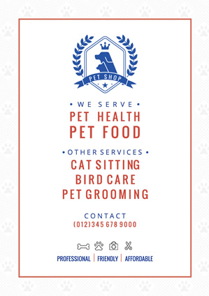 Life Pet Shop Poster Design