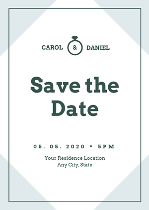 Wedding Save the Date Invitation Design