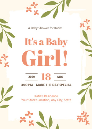 Unique Baby Shower Invitation Design