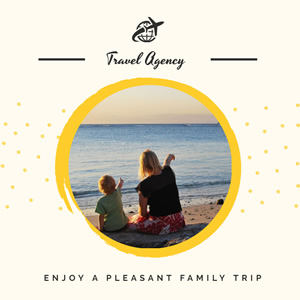 Family Trip Promo Instagram Post Design