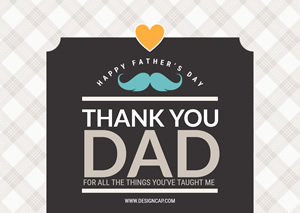 Thank You Dad Card Design