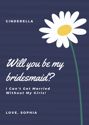 Wedding Bridesmaid Invitation Design