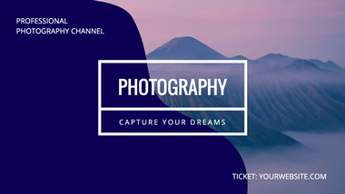 Photography Channel YouTube Channel Art Design