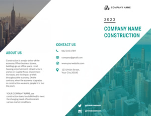 Construction Company Brochure Brochure Design