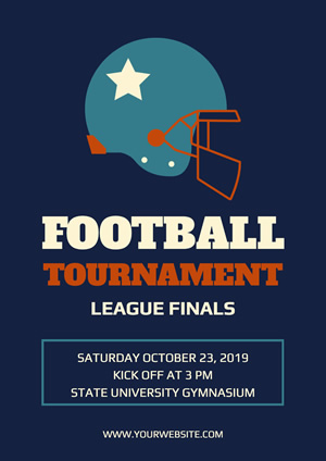 Blue Football Tournament Poster Design