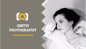 Lady Photography Card Business Card Design