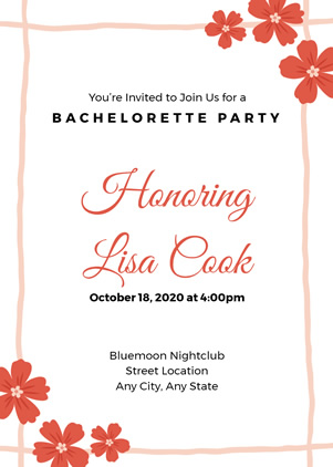 Bachelorette Party Invitation Design
