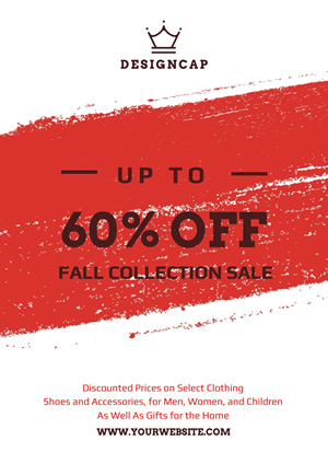 White and Red Store Sale Poster Poster Design