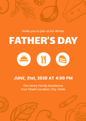 Father's Day Dinner Invitation Design