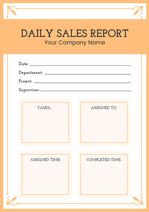 Daily Sales Report Design