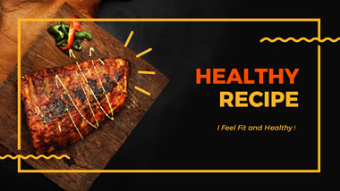 Healthy Recipe YouTube Channel Art Design