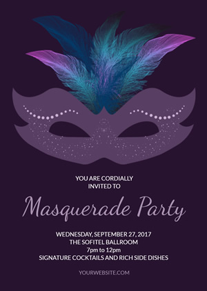 Creative Masquerade Invitation Design