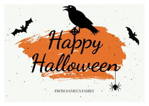 Spooky Halloween Card Design