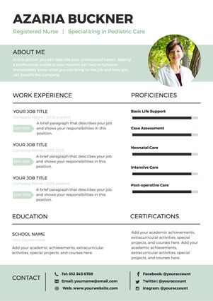Nurse Resume Design