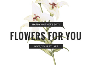 Lily Flower Mothers Day Card Design