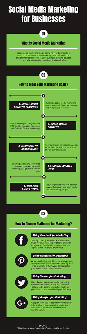 Social Media Marketing Infographic Design