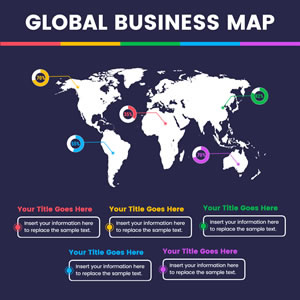 Global Business Map Chart Design